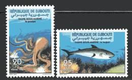 DJIBOUTI - 1998 - N°740/1  (MI 665/6) ** Faune Marine - Djibouti (1977-...)