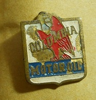 PIN * Columbia Motor Oil * Only Have A Part Of The Pin On Back - Fuels
