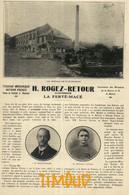 H. ROGEZ RETOUR / TISSAGE MECANIQUE / LA FERTE MACE / ORNE  / ARTICLE PUB  1927 - Sin Clasificación