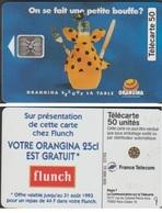 F382 530-O TELECARTE  ORANGINA 50 U COUVERTS 5 T.G.E N° 46376    4 OUVERT - France