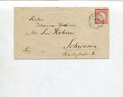 Deutsches Reich / 1874 / Bf. EF (Brustschilde) Int. K1-o TESSIN IN MECKL. (4/741) - Briefe U. Dokumente