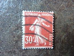 Semeuse 30 C   Y&T= 160 Oblitéré Parfait état - 1906-38 Sower - Cameo