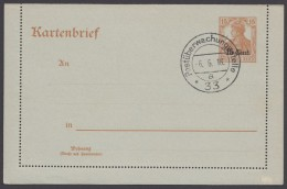 """Etappe West : K 1 Stempel """"Postüberwachungsstelle 33"""", 6.6.18 - Besetzungen 1914-18"""