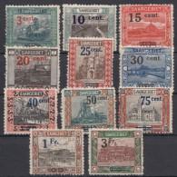 Aus 70/82, 11 Versch. Aufdruckwerte, Falzrest, Einige Auch ** - 1920-35 Saargebiet – Abstimmungsgebiet