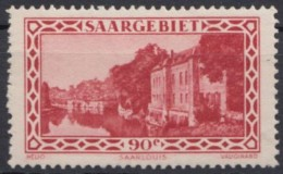 """MiNr. 160 """"Kaserne Saarlouis"""", 1932, ** - 1920-35 Saargebiet – Abstimmungsgebiet"""