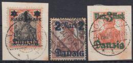 MiNr. 26 I, 28/9 I, Alle Sauber Gestempelt - Danzig