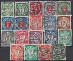 "MiNr. 194 Ff., ""Wappen"", 19 Versch. Werte Mit Besseren, Auch 194 D - Dantzig"