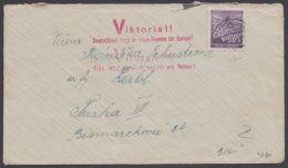 """MiNr. 65, EF Auf Brief Mit """"Viktoria""""-Stempel - Böhmen Und Mähren"""