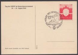 """Generalgouvernement : 106, Propagandakarte """"Nicht Du Bist Der Maßstab..."""", Sst """"Krakau"""" - Besetzungen 1938-45"""