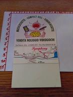 144245 Strano Biglietto Da Visita Symphony Video Music Livigno Sondrio - Cartoncini Da Visita