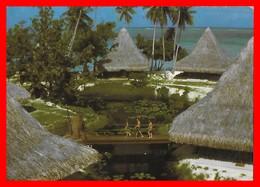 CPSM/gf HUAHINE (Polynésie Française)   Hôtel Bali Hai, Animé...F428 - Polynésie Française
