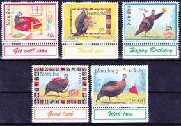 Série De 5 T.-P. Gommés Neufs** - Helmeted Guineafowl (Numida Meleagris) - N° 807-808-809-810-811 (Yvert) - Namibie 1997 - Namibia (1990- ...)