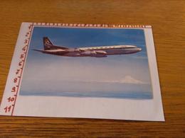 144247 Cartolina Aereo Olympic Airways Boeing 707 320 - 1946-....: Moderne