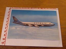 144248 Cartolina Aereo Olympic Airways Boeing  747 200 B Jumbo Jet - 1946-....: Era Moderna