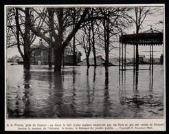 1935  --  A LA PLANTE PRES DE NAMUR LE KIOSQUE SOUS L INONDATION   3P452 - Non Classés