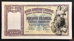 Banca Nazionale D'albania 100 Franchi 1940  LOTTO 961 - Albania