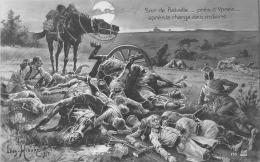 WW1 14 18  SOIR DE BATAILLE PRES DE YPRES   TABLEAU   ART - Guerre 1914-18
