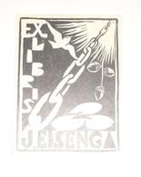 Ex-libris Moderne XXème Illustré -  Allemagne - J. EISENG - Ex Libris