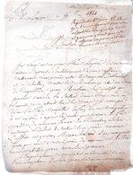 CHANBOUNAUT . 2 Pages Manuscrites Signées. Sagonne,Cher.25 Mai 1821.Lettre à Monsieur Boyron,défendeur Près Le Tribunal - Autographes