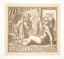 Ex-libris Moderne XXème Illustré -  Allemagne - LUDWIG FARBER - Ex-libris