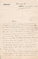 1887 - LAMALOU-le-BAS - L.A.S. NAQUET Alfred-Joseph (1834-1916) Sénateur Du VAUCLUSE, Boulangiste, Affaire De PANAMA - Historische Dokumente