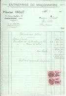 Maurice Vasut. Lambersart. Entreprise De Maçonnerie. 1944 - France
