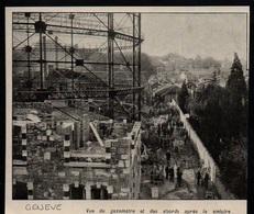 1909  --  GENEVE  VE DU GAZOMETRE APRES LA CATASTROPHE   3P456 - Non Classés