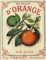 ETIQUETTE- SIROP  D'ORANGE  - CH. VERNET  HYERES - Alimentaire