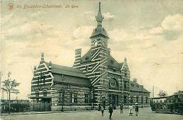 Cpa BRUXELLES - SCHAERBEEK - La Gare - Chemins De Fer, Gares