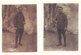 2 Photos Anciennes Soldat ( écrit Marseille Au Verso ) - Guerre, Militaire