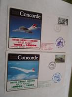 Concorde British Airways 1er Vol First Flight London Tour Aller Retour 15/06/85 - Concorde