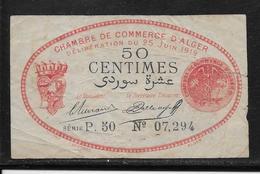 Algérie Chambre De Commerce Alger 50 Centimes - 25-6-1919 - TB - Algeria
