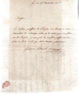 Sées Ce 14 Thermidor AN 6. Citoyen,les Besoins Pressent De L'hospice.Salut Et Fraternité.Lettre Manuscrite Signée. - Autographes