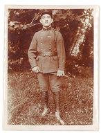 Photo Ancienne Soldat Debout - Guerre, Militaire