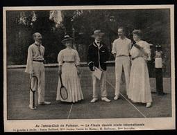 1906  --  AU TENNIS CLUB DE PUTEAUX  FINALE DOUBLE MIXTE INTERNATIONALE  3P463 - Non Classés