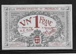 Monaco 1 Franc - 16-3-1920 - Pick N°5 - SPL - Monaco