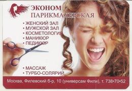 Calendars Russia - 2010 - Hairdresser - Advertising - Girl - Woman - Scissors - Hairstyle - Calendars