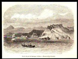 1858  --  CUBA ENTREE DU PORT DE SANTIAGO   3P468 - Non Classés