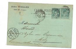 Carte Precurseur - 1898 - Saint Die