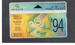 BELGIO (BELGIUM) -  1994  SEASON, S GREETINGS   - USED - RIF. 10828 - Belgium