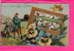 Cpa  Carte Postale Ancienne  - Souvenir Du Camp De Chalons - Andere