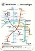 Calendars Russia  - 2013 - Bank - Gazprombank - Metro Map - Metro - St. Petersburg - Calendars