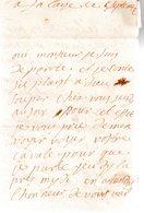 Mme.De LORGERY. 2 Pages Manuscrites Signées.à Falaise Ce 5 Septembre 17??.Monsieur Du Motté Conseiller Du Roy à Falaise - Autographes