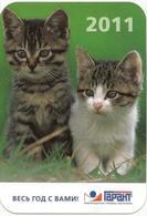 Calendars Russia  - 2011 - Kittens - Animals - Advertising - Calendars