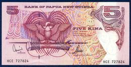 PAPUA NEW GUINEA 5 KINA P-13d SIGNATURES: Kamit + Tarata 1992 - 2000 UNC - Papouasie-Nouvelle-Guinée