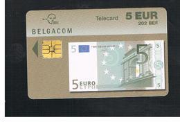 BELGIO (BELGIUM) -  2002   BANKNOTE 5 EURO      - USED - RIF. 10841 - Belgium