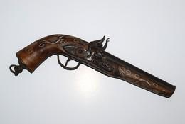 Reproduction De Pistolet à Silex Style Oriental Ou Mexicain Décor De Nacre - Armes Neutralisées