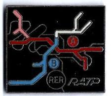 RATP - R8 -  LIGNES A Et B RER - Verso : LA BOITE A PIN'S - Transportation