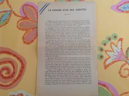 Chaîne D'or Des Adeptes Ordre éudiaque Durville Paris - Vecchi Documenti