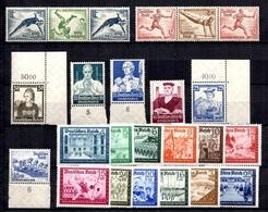 Allemagne/Reich Belle Petite Collection De Bonnes Valeurs Neufs ** MNH 1934/1939. TB. A Saisir! - Germany
